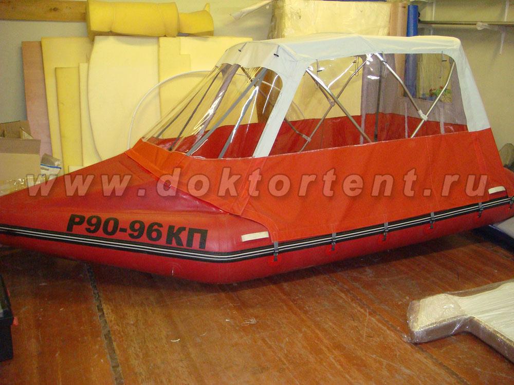 изготовление тент ходовой на лодку