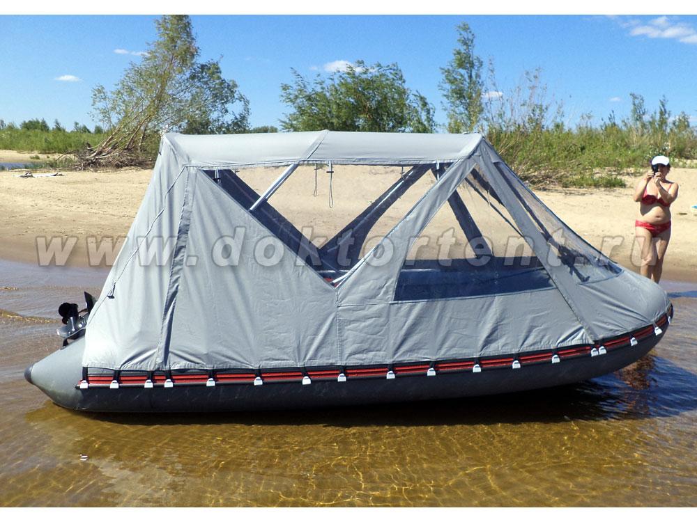 Тент на резиновую лодку