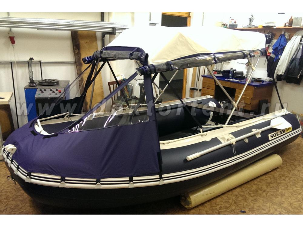 лодка пвх 380 с тентом